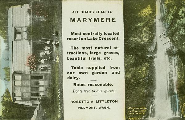 Marymere Hotel, Lake Crescent, Clallam County, WA